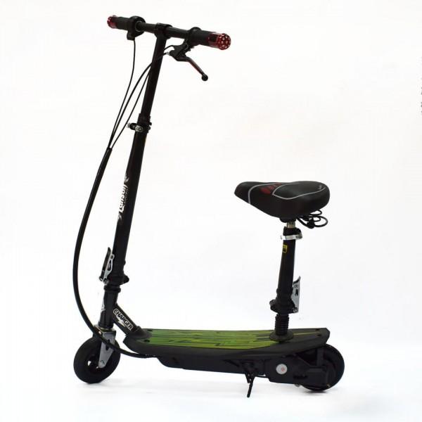 Электроскутер детский Charger 120W c сиденьем (надувное переднее колесо)